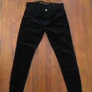 American Eagle Outfitters Black Velvet Legging 28